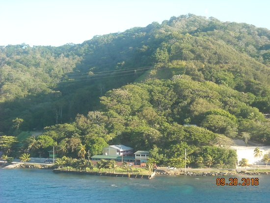 Liberty of the Seas: coast of Roatan, Honduras