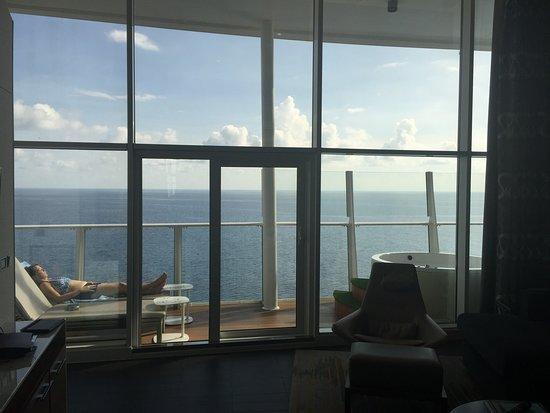 Oasis of the Seas: View toward the balcony.