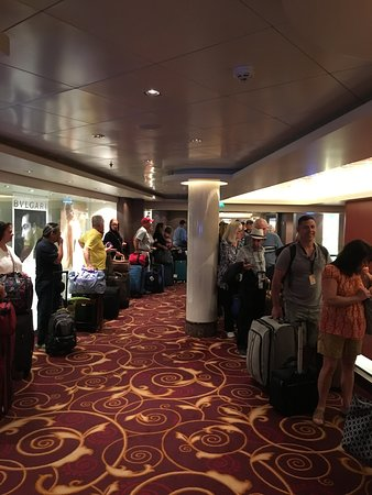 Norwegian Epic: another view of the cluster that was debarkation