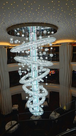 Norwegian Epic: The largest of the many beautiful decorative features on the ship.