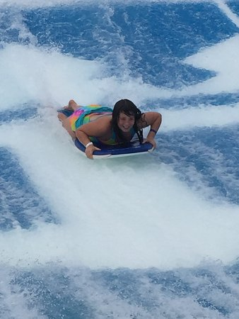 Oasis of the Seas: This is a photo of my daughter on the flo-rider on board the Oasis.