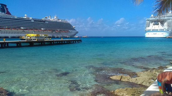 Carnival Dream: Docked cruise ships in Cozumel, Mexico