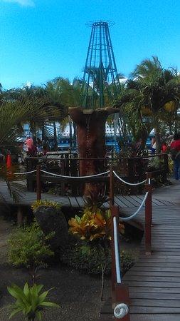 Carnival Dream: Garden and fountain in Cozumel, Mexico
