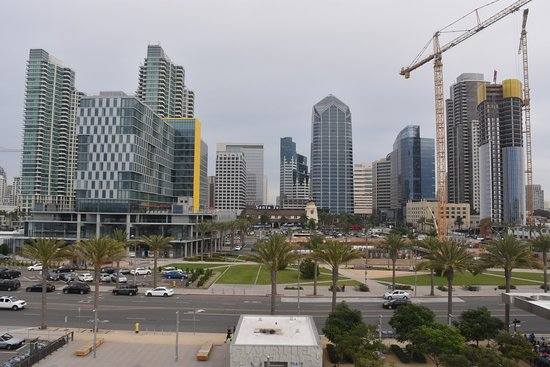 San Diego from the bow of the Ruby Princess