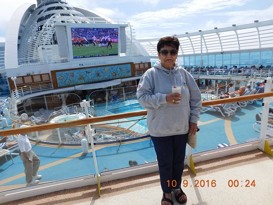 Ruby Princess: We enjoyed watching football on the big outdoor screen.