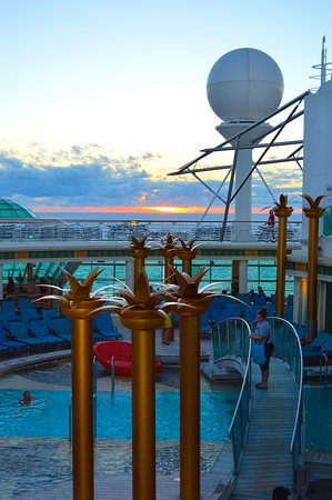 Independence of the Seas: Ship Shots with sunset backdrop