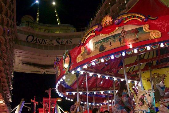 Oasis of the Seas: The merry-go-round