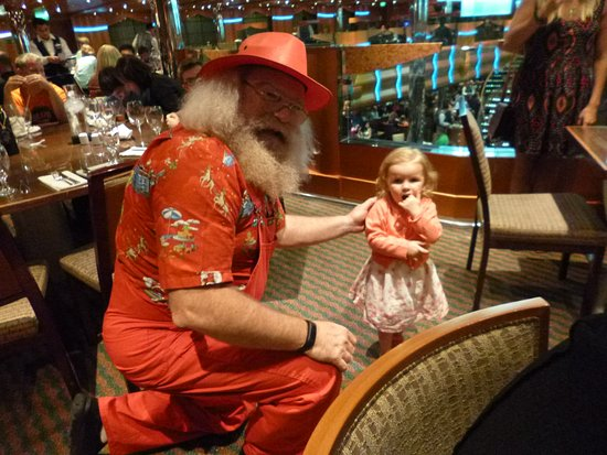 Carnival Magic: Santa and little Rose.  She adored him and ran to him every time we were ne