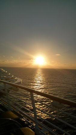 Independence of the Seas: One of our sunsetsite from the deck.
