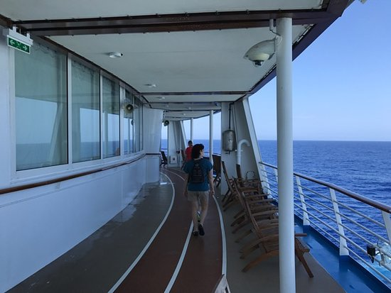 Allure of the Seas: Track, 5th floor, aft.  Note the empty seats.  Amazingly there are always e