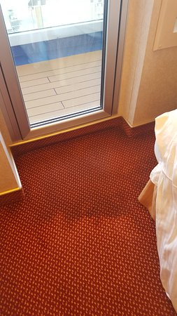 Carnival Splendor: Balcony door leak.