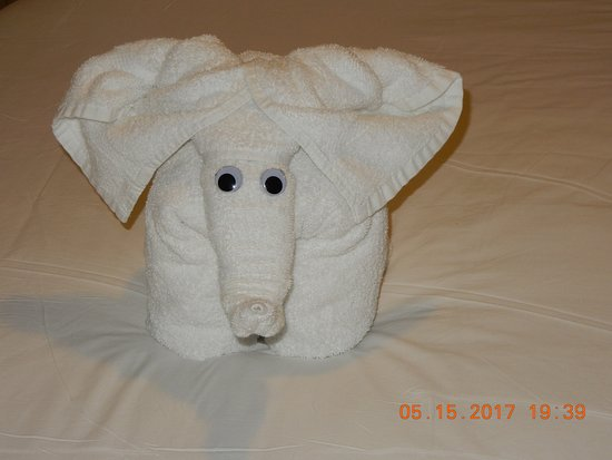 Oasis of the Seas: Towel art from the Cabin Steward