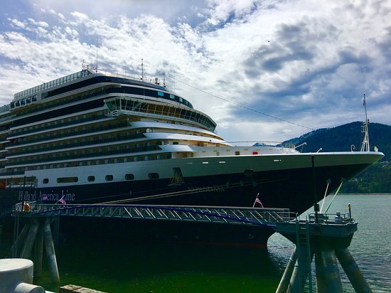 Eurodam: At port in Juneau.