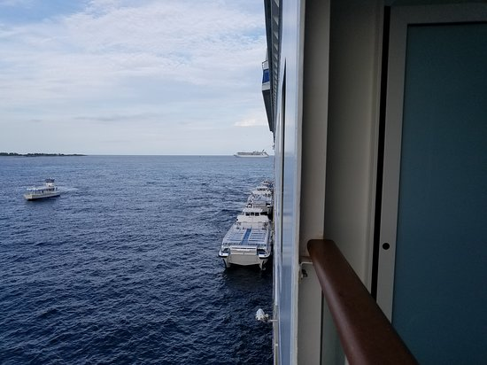 Norwegian Gem: Balcony view.  Day out to Great Stirrup Cay.
