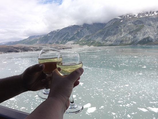 Eurodam: view from our deck while cruising Glacier Bay