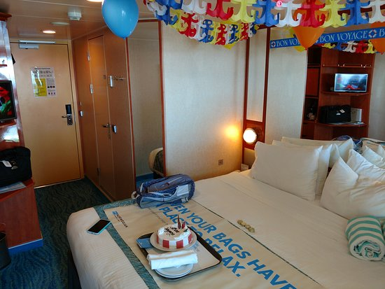 Norwegian Gem: We bought the Bon Voyage package for our daughter.  The cake was ok and we left the banners and balloons up for most of the trip!