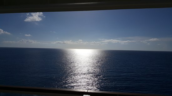 Norwegian Gem: View from our aft facing balcony cabin...