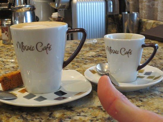 Azamara Quest: Mosaic Café - delicious espresso/cappucino