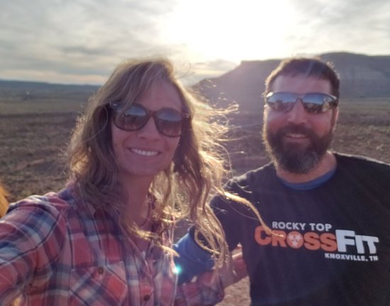 My wife and I at the sunset point