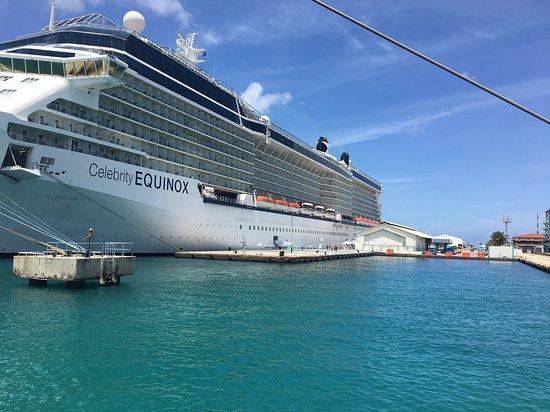Celebrity Equinox: Equinox docked in Bonaire