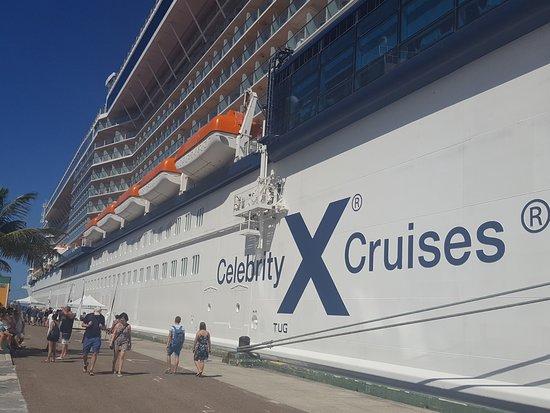 Celebrity Equinox: Equinox docked in Nassau