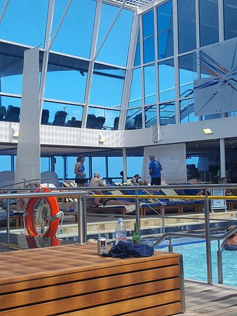 Celebrity Equinox: Solarium pool. Comfortable lounges. Aqua cafe located inside the solariam has the best fresh pressed juices. I loved the carrot, ginger and apple one....