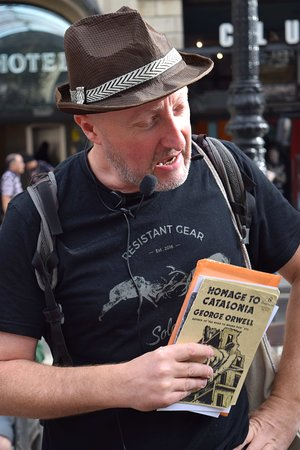 Azamara Quest: A walking tour in Barcelona, in the footsteps of George Orwell  during the