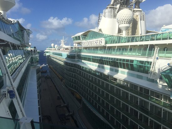 Freedom of the Seas and Liberty of the Seas, side by side in Cozumel Mexico