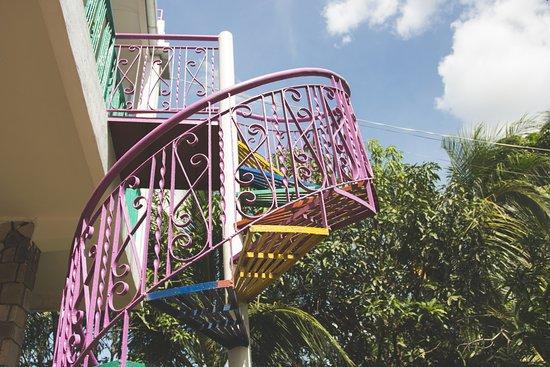 Kampot, Cambodia: outside stairs