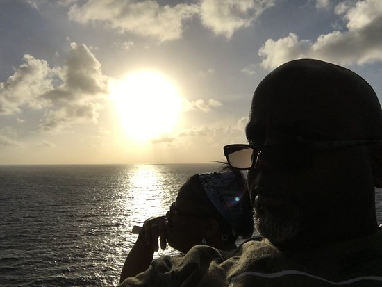 Liberty of the Seas: Clearing your mind The sunset