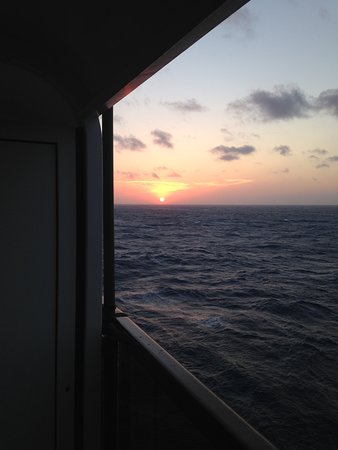 MSC Sinfonia: Sunset from the Cabin b.alcony