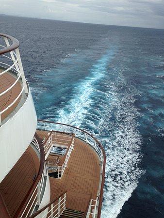 MSC Sinfonia: Sinfonia aft at cruise.