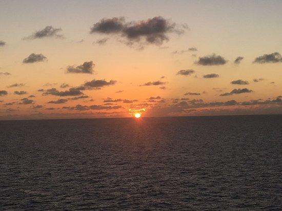 Norwegian Jade: Sunset at sea