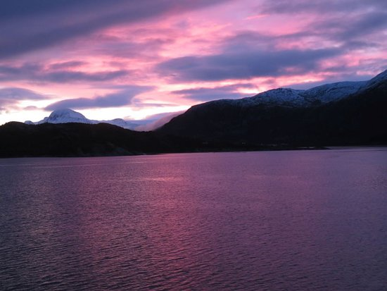 Nordlys: Early sunset in Norway - this was as early as 2.30pm