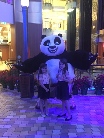 Allure of the Seas: Dreamworks Kung Fu Panda. Kids loved seeing all the characters!