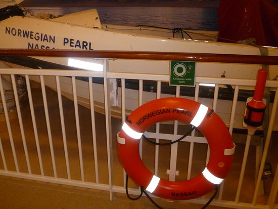 Norwegian Pearl: The Life Preserver says it all