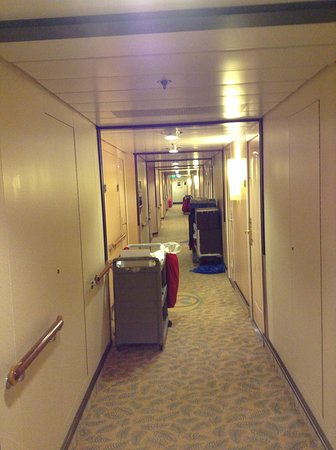 Liberty of the Seas: A small example of cleaning carts in the hallways twice a day...doesn't