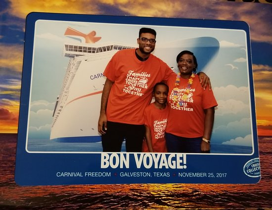 Carnival Freedom: Myself and my 2 sons. Boarding the Freedom.