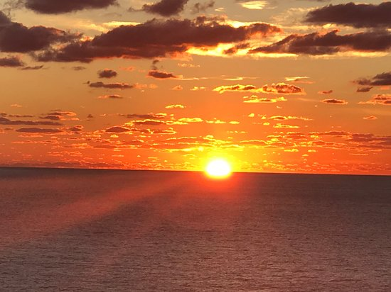 Liberty of the Seas: Sunset off of our balcony cabin.  A Royal view! :)