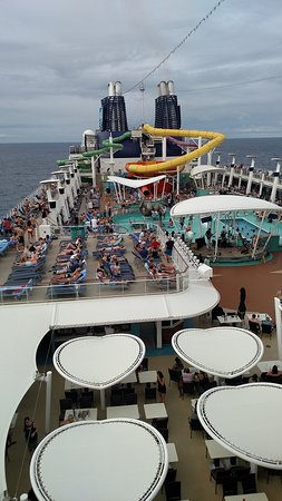 Norwegian Epic: A view from deck 18.