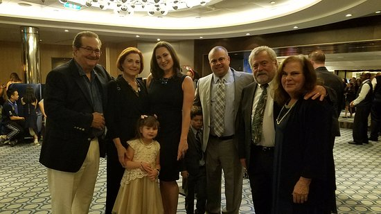 The family as formal as we got on board the Allure of the Seas.