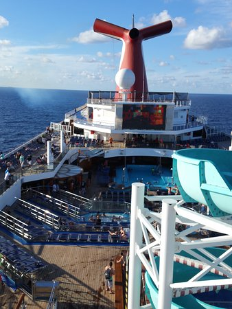 Carnival Freedom: This is the Dive in Movie screen and slide on the side