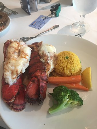 Liberty of the Seas: Lobster night dinner. It was delicious and our waiter brought us extra lobs