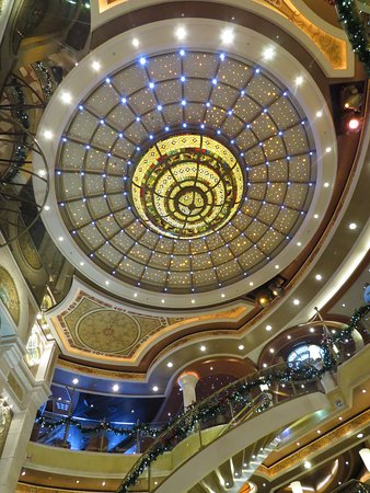 Ruby Princess: The ceiling of the ship.  Quite pretty to me!