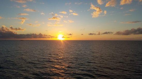 Norwegian Jade: Sunrise from the balcony