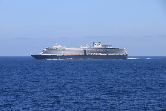 Ruby Princess: Holland America Westerdam accompanied the Ruby from Cabo to LA