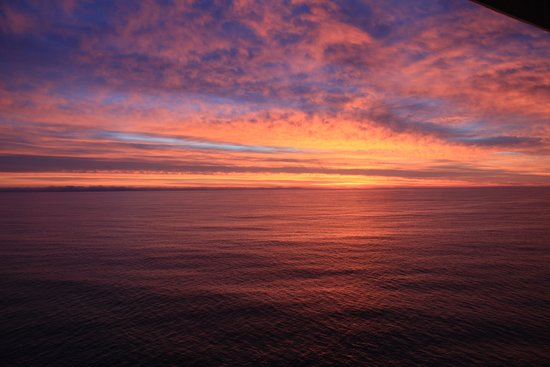 Ruby Princess: Sunset south of Catalina on way to Puerto Vallarta