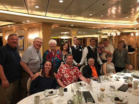 Liberty of the Seas: this is a photo of our family group, two babies and the best waiters on the