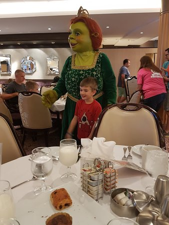 Allure of the Seas: Meet and greet breakfast with Shrek characters.  There was another we atten