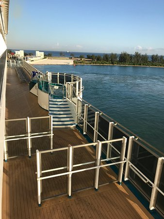 Carnival Dream: View from our balcony. We were over the casino but had no problem with nois